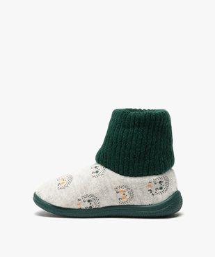 Chaussons bébé garçon boots en maille et velours vue3 - GEMO C4G BEBE - GEMO