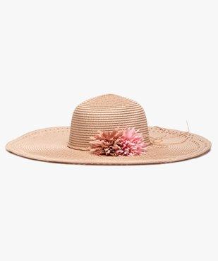 Chapeau femme forme capeline avec fleurs en relief vue1 - GEMO (ACCESS) - GEMO