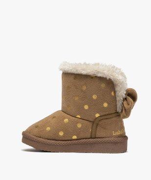 Boots d'intérieur bébé fille en suédine – Lulu Castagnette vue3 - LULU CASTAGNETT - GEMO