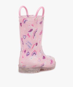 Bottes de pluie fille pailletées motif licorne avec anses vue4 - GEMO (ENFANT) - GEMO