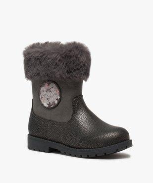 Boots fille zippés à col rembourré – La Reine des Neige vue2 - REINE DES NEIGE - GEMO