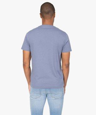 Tee-shirt homme à manches courtes à message brodé 100% coton biologique vue3 - GEMO (HOMME) - GEMO