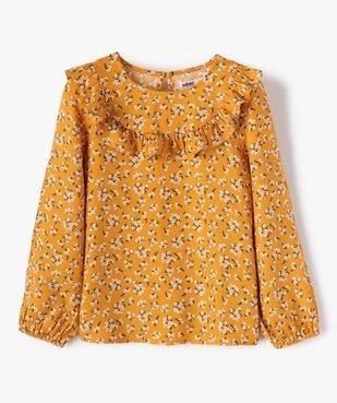 Chemise fille à motifs fleuris et volant sur le col vue1 - GEMO (ENFANT) - GEMO