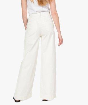 Pantalon femme en toile épaisse coupe Flare vue3 - GEMO(FEMME PAP) - GEMO