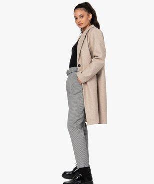 Manteau femme mi-long à col tailleur et fermeture 1 bouton vue5 - GEMO(FEMME PAP) - GEMO