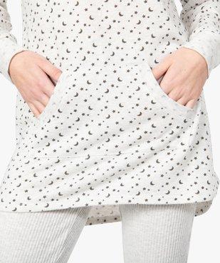 Haut de pyjama femme à manches longues imprimé vue2 - GEMO(HOMWR FEM) - GEMO