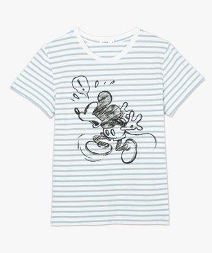 Tee-shirt femme rayé motif Mickey - Disney vue4 - DISNEY DTR - GEMO