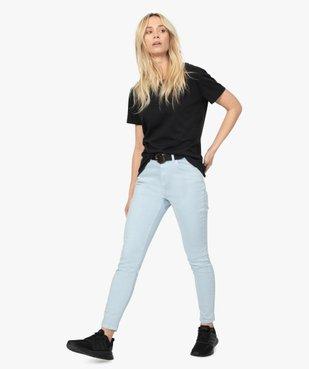 Tee-shirt femme à manches courtes avec dos plus long vue5 - GEMO(FEMME PAP) - GEMO