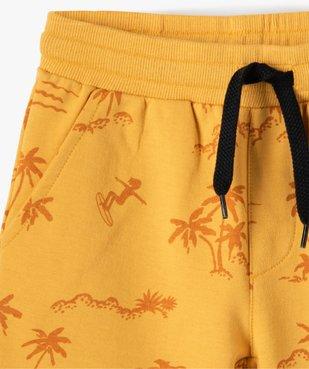 Bermuda garçon à motif estival avec ceinture bord-côte vue2 - GEMO (ENFANT) - GEMO