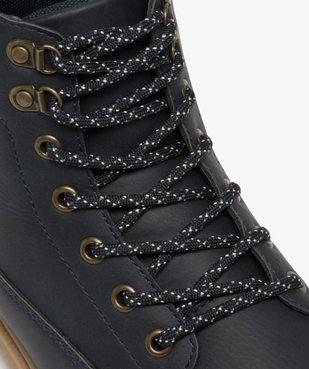 Boots homme à semelle crantée et lacets - Les Supaires à semelle contrastante et lacets bicolores vue6 - GEMO (CASUAL) - GEMO