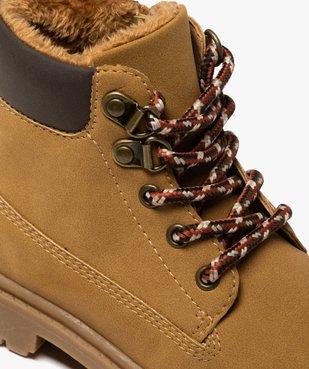 Boots garçon à col rembourré et semelle crantée vue6 - GEMO (ENFANT) - GEMO