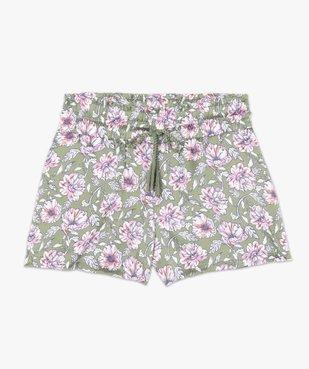 Bas de pyjama femme forme short à motifs fleuris vue4 - GEMO(HOMWR FEM) - GEMO
