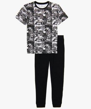 Pyjama garçon à motif bande dessinée vue1 - GEMO (JUNIOR) - GEMO