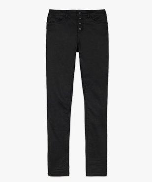 Pantalon femme coupe skinny taille haute en toile enduite vue4 - GEMO(FEMME PAP) - GEMO