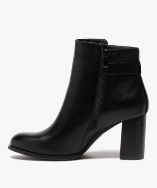 Boots femme unis à talon carré et bride fantaisie vue3 - GEMO(URBAIN) - GEMO