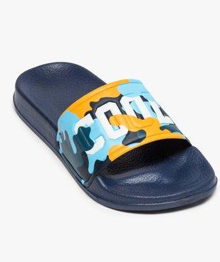 Mules de piscine garçon à bandeau camo « Cool » vue5 - Nikesneakers (ENFANT) - Nikesneakers