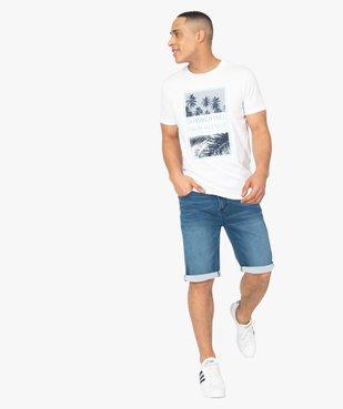 Bermuda homme en jean extensible vue5 - Nikesneakers (HOMME) - Nikesneakers