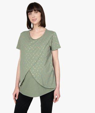 Tee-shirt de grossesse et d'allaitement à motifs vue1 - GEMO (MATER) - GEMO