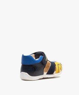 Sandales bébé garçon multicolores doublées cuir - Geox vue4 - GEOX - GEMO
