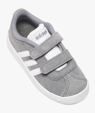 Basket basse cuir à scratchs - Adidas vue5 - ADIDAS - GEMO