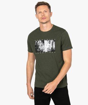 Tee-shirt homme à manches courtes imprimé Japon vue1 - GEMO (HOMME) - GEMO