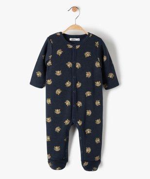 Pyjama bébé garçon avec motifs lionceaux vue1 - GEMO(BB COUCHE) - GEMO