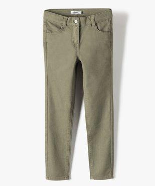 Pantalon fille coupe Slim uni vue1 - GEMO (ENFANT) - GEMO