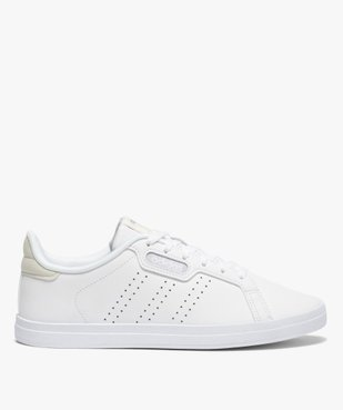 Baskets femme unies à lacets – Adidas Courtpoint Base vue1 - ADIDAS - Nikesneakers