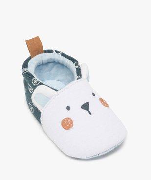 Chaussons de naissance bébé garçon imprimés tête d'ours vue5 - Nikesneakers(BB COUCHE) - Nikesneakers