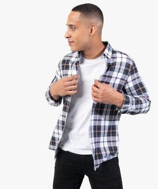 Chemise homme à carreaux coupe slim vue1 - GEMO (HOMME) - GEMO