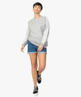 Sweat femme avec bandes sur les manches - Adidas vue5 - ADIDAS - GEMO