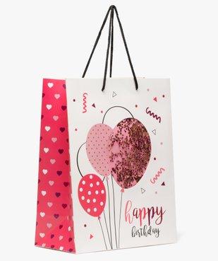 Sac cadeau fille pour anniversaire avec confettis pailletés vue1 - Nikesneakers (ACCESS) - Nikesneakers