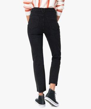 Jean femme regular taille haute à bords francs vue3 - Nikesneakers(FEMME PAP) - Nikesneakers