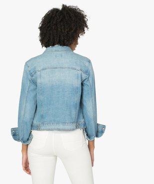 Veste en jean femme coupe large et courte vue4 - GEMO(FEMME PAP) - GEMO