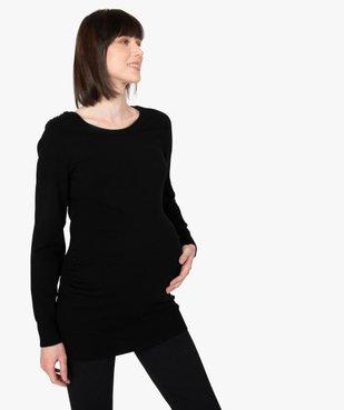 Pull de grossesse avec col rond et boutons sur l'épaule vue1 - GEMO (MATER) - GEMO