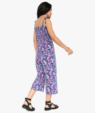 Combinaison pantacourt femme à motifs fleuris vue3 - GEMO(FEMME PAP) - GEMO