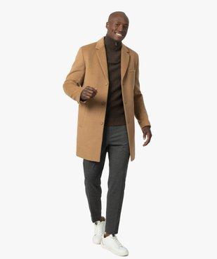 Manteau court homme effet drap de laine vue5 - GEMO (HOMME) - GEMO