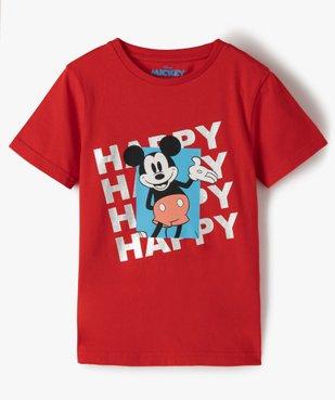 Tee-shirt garçon avec motif Mickey - Disney vue1 - DISNEY DTR - Nikesneakers