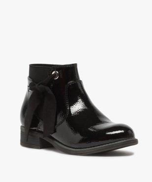 Boots fille unis tige vernie et ruban décoratif vue2 - Nikesneakers (ENFANT) - Nikesneakers