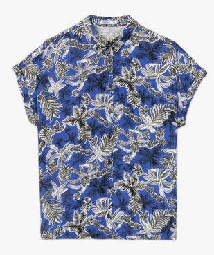 Chemise femme imprimée à manches courtes et bas élastiqué vue4 - GEMO(FEMME PAP) - GEMO