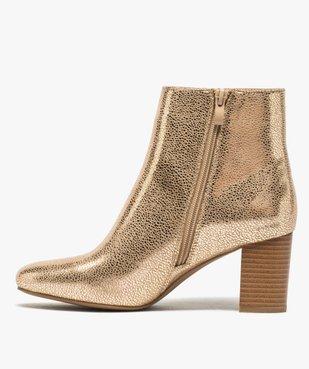 Boots femme à talon carré dessus métallisé vue3 - Nikesneakers(URBAIN) - Nikesneakers
