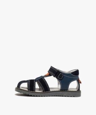 Sandales garçon à brides en cuir et fermeture scratch vue3 - Nikesneakers (ENFANT) - Nikesneakers