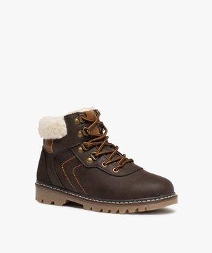 Boots garçon style chaussures de montagne à col sherpa vue2 - GEMO (ENFANT) - GEMO