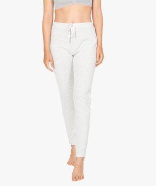 Pantalon de pyjama femme en maille côtelée vue1 - Nikesneakers(HOMWR FEM) - Nikesneakers