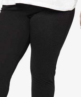 Legging uni en coton stretch vue2 - GEMO (G TAILLE) - GEMO