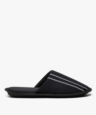 Chaussons homme forme mules velours avec liserés vue1 - Nikesneakers(HOMWR HOM) - Nikesneakers