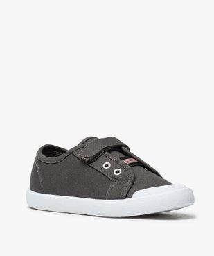 Chaussures basses garçon en toile fermeture à scratch vue2 - GEMO (ENFANT) - GEMO