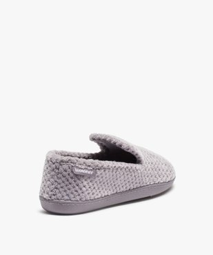Chaussons femme forme charentaise - Isotoner vue4 - ISOTONER - GEMO