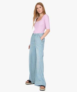 Tee-shirt femme à manches courtes en maille côtelée vue5 - Nikesneakers(FEMME PAP) - Nikesneakers