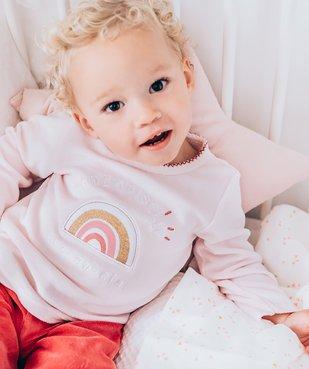 Pyjama bébé fille en velours et motif arc-en-ciel vue7 - GEMO(BB COUCHE) - GEMO